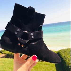 $1340 Louis Vuitton suede harness Ankle Boots 36 6